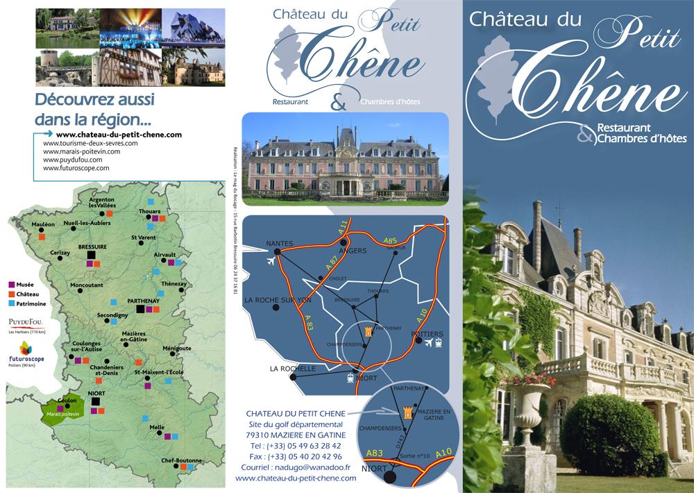 Dépliant recto Chateau petit chene